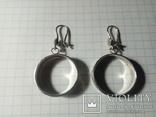 Сережки підвіски срібні СССР  8,6 г, фото №7