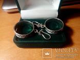 Сережки підвіски срібні СССР  8,6 г, фото №8