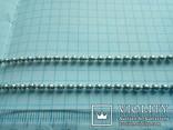 Ланцюжок срібний 925 фантазійного плетіння перлина 51 см, фото №3