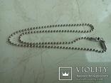 Ланцюжок срібний 925 фантазійного плетіння перлина 51 см, фото №5