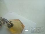 Підвіс срібний старовинний з позолотою, фото №8
