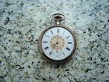 Часы карманные Швейцария ALPINA Union Horlogere 1900 г. серебро НА ХОДУ, фото №2