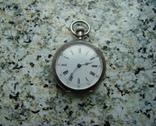 Часы карманные Andreas Huber Munchen 1890 г. серебро на ходу, фото №2