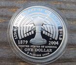 США 1 доллар 2004 г. 125-летие электрической лампочки Эдисона. Пруф, фото №3