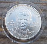 США 1 доллар 1998 г. Серебро. Роберт Кеннеди., фото №2