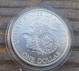 США 1 доллар 1998 г. Серебро. Роберт Кеннеди., фото №3
