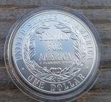 США 1 доллар 1996 г. Серебро. Государственная и муниципальная служба. Тираж 23 500, фото №3