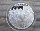 США 1 доллар 2007 г. 400-летие основания Джеймстауна. Пруф. Корабль, фото №2