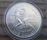 США 1 доллар 1996 г. Серебро. 150-летие Смитсоновского института., фото №3