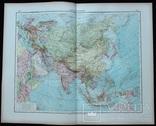 2 карты. Азия. Andrees HandAtlas. 1921 год. 56 на 44 см. (3), фото №2