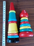 Деревянная пирамидка конструктор ссср, фото №3