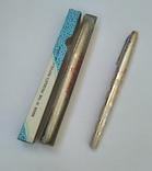 2 перьевые ручки, позолоченное перо, Китай (времен СССР), фото №2