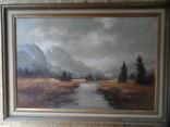 Картина  Пейзаж Холст Масло Подписная 1,04 х 74 по раме Европа, фото №3