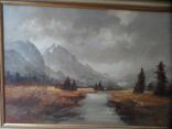 Картина  Пейзаж Холст Масло Подписная 1,04 х 74 по раме Европа, фото №4