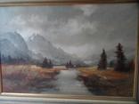 Картина  Пейзаж Холст Масло Подписная 1,04 х 74 по раме Европа, фото №5