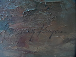Картина  Пейзаж Холст Масло Подписная 1,04 х 74 по раме Европа, фото №6
