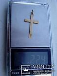 Крестик нательный,56 проба, фото №5