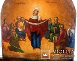 Старовинна ікона Покрови Пр. Богородиці, фото №13