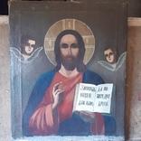 Икона (Спаситель на холсте 70×85 см.), фото №2