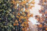 Старая большая картина в раме., фото №11