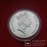 50 $  1990 г. острова Кука., фото №3