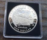США 1 доллар 1999 г. Долли Мэдисон. Дом Монпелье. ФОТО ЧЕРЕЗ КАПСУЛУ. Серебро. Пруф, фото №3