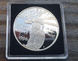 США 1 доллар 1996 г. Государственная и муниципальная служба. Серебро. Пруф, фото №2