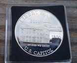 США 1 доллар 2001 г. Первое собрание Конгресса в Капитолии в 1800 г. Серебро Пруф, фото №2