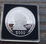 США 1 доллар 2000 г. Лейф Эриксон, 1000-летие открытия Америки.  Серебро. Пруф, фото №3