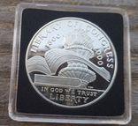 США 1 доллар 2000 г. 200-летие библиотеки Конгресса. Серебро. Пруф, фото №2