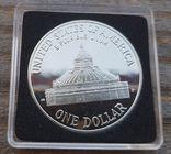 США 1 доллар 2000 г. 200-летие библиотеки Конгресса. Серебро. Пруф, фото №3