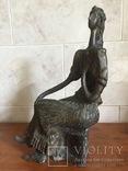 «Дама на стуле». Произведение скульптора Владимира Лемпорта, фото №8
