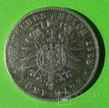 5 марок, 1888 год, Баден,, фото №4