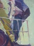 """В.Кнышевский""""На стройках Родины"""", х.м.69*59см, фото №11"""