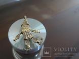 """Подвеска-кулон """"Арлекино"""". Серебро, позолота, камни., фото №3"""