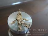 """Подвеска-кулон """"Арлекино"""". Серебро, позолота, камни., фото №4"""