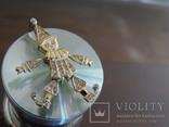 """Подвеска-кулон """"Арлекино"""". Серебро, позолота, камни., фото №5"""