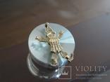 """Подвеска-кулон """"Арлекино"""". Серебро, позолота, камни., фото №6"""