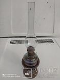 Старинная лампа ночник с металлической подставкой, фото №3
