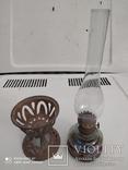 Старинная лампа ночник с металлической подставкой, фото №2