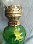 Керосиновая лампа зелёное стекло, фото №3