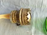 Керосиновая лампа зелёное стекло, фото №13