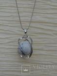 Подвеска спиральная с серебренной цепочкой, камень., фото №9