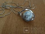Подвеска спиральная с серебренной цепочкой, камень., фото №12