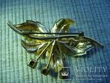 """Брошь """"Орхидея"""". Чехословакия. Эмаль., фото №3"""