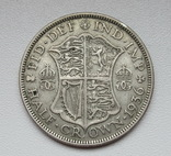 1/2 кроны 1936 г. Великобритания, серебро, фото №9