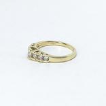 "Винтажное золотое кольцо с бриллиантами огранки ""принцесса"", фото №3"