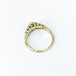 "Винтажное золотое кольцо с бриллиантами огранки ""принцесса"", фото №6"