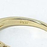 "Винтажное золотое кольцо с бриллиантами огранки ""принцесса"", фото №7"