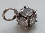 Кулон с камнями серебро 925 проба, фото №6